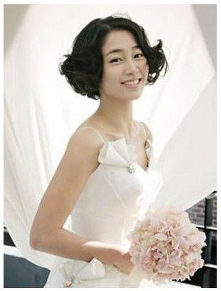 佛山型美尚妆培训分享# 短发新娘发型的装扮